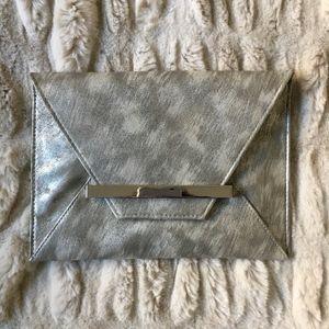 Handbags - NWOTMetallic Envelope Clutch with Shoulder Strap